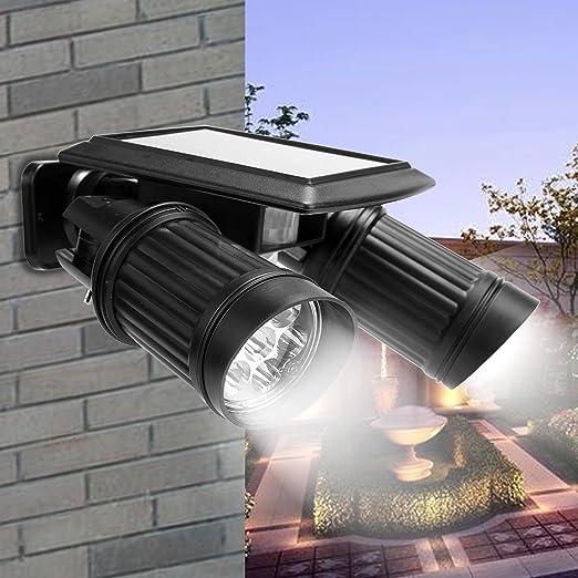 Lámpara solar con detector de movimiento LED Solar Foco 40lm Foco Luz solar Spot IP44 Resistente