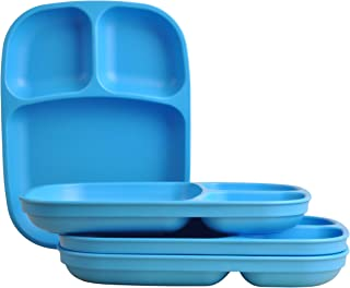 """product image for Re-Play Recycled Products, Set of 4 (10"""" Divided Tray, Sky Blue)"""