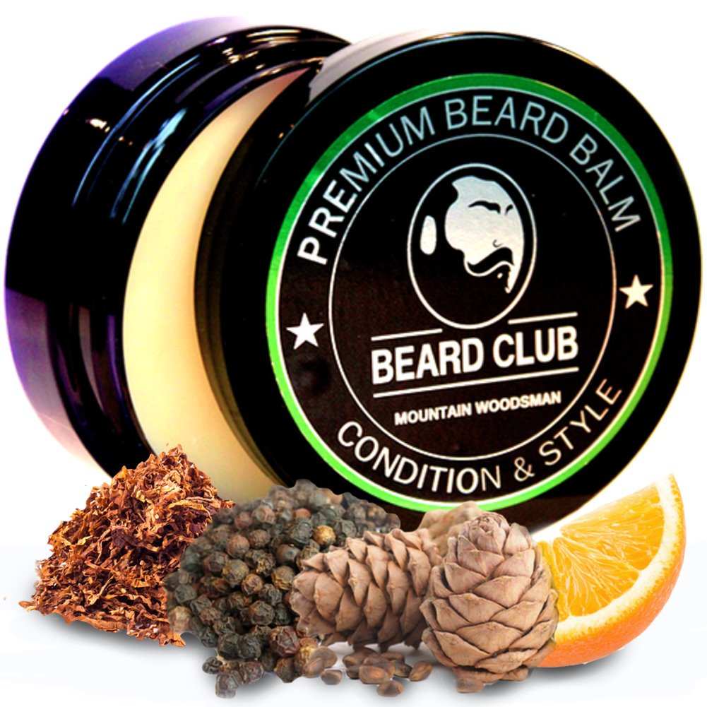 Premium Qualitäts Balsam für den Bart | Mountain Woodsman (Holzfäller) Bartbalsam / Beard Balm | Natürlich und Organisch | Der beste Bart Conditioner & Weichmacher, um Ihren Bart zu formen und zu stylen, während Sie Bart Juckreiz & Flakes stoppen |
