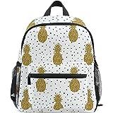 8a8d10ce9f55 ZZKKO Pineapple Polka Dot Kids Backpack School Book Bag for Toddler Boys  Girls