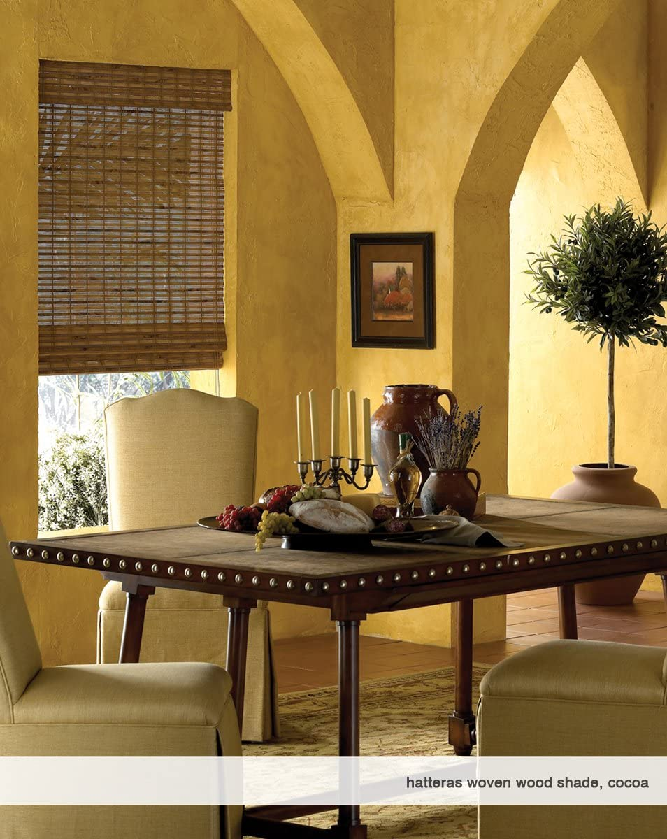 24W x 36H Bayhead Natural Cordless Woven Wood Roman Shades Any Size 20-72 Wide and 24-72 High
