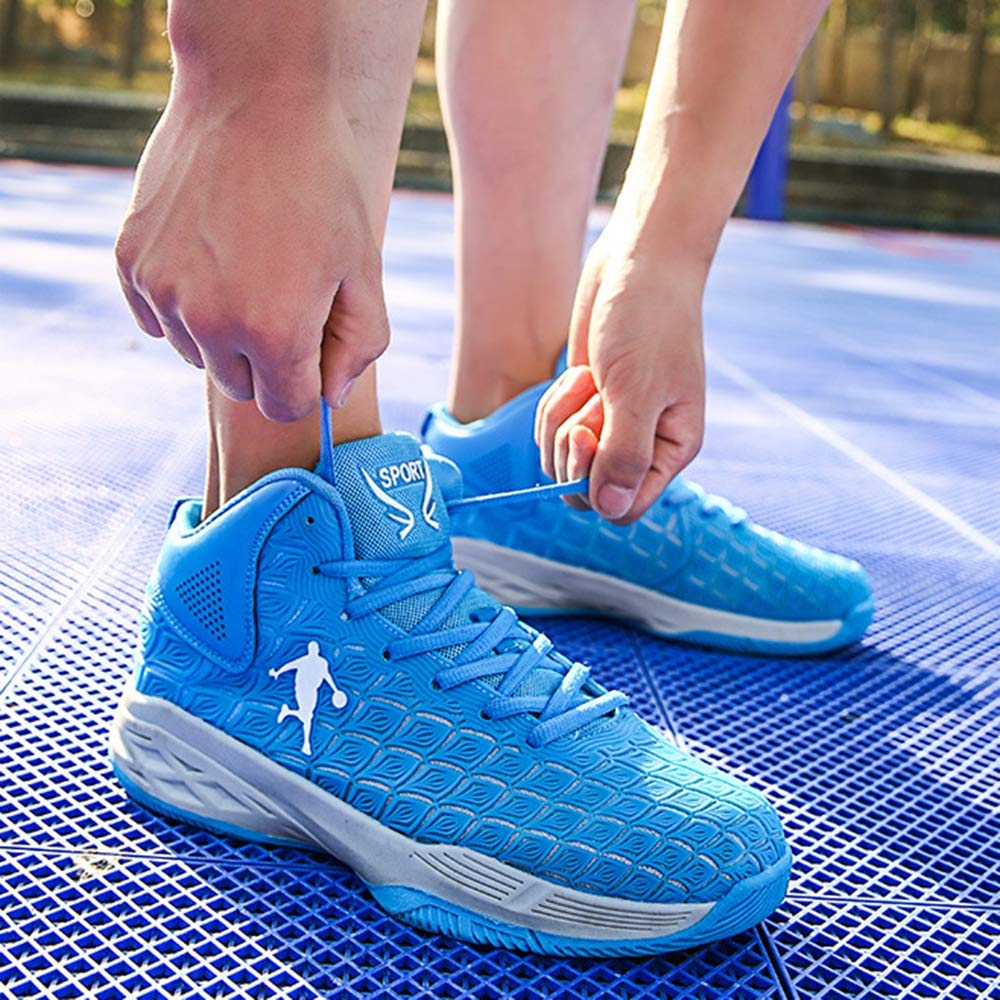 /étudiantes en Plein air,Blue,36 Bottes de Basket-Ball /à Absorption de Chocs de Performance Baskets dentra/înement l/ég/ères et Respirantes Willsky Chaussures de Basket-Ball pour Hommes