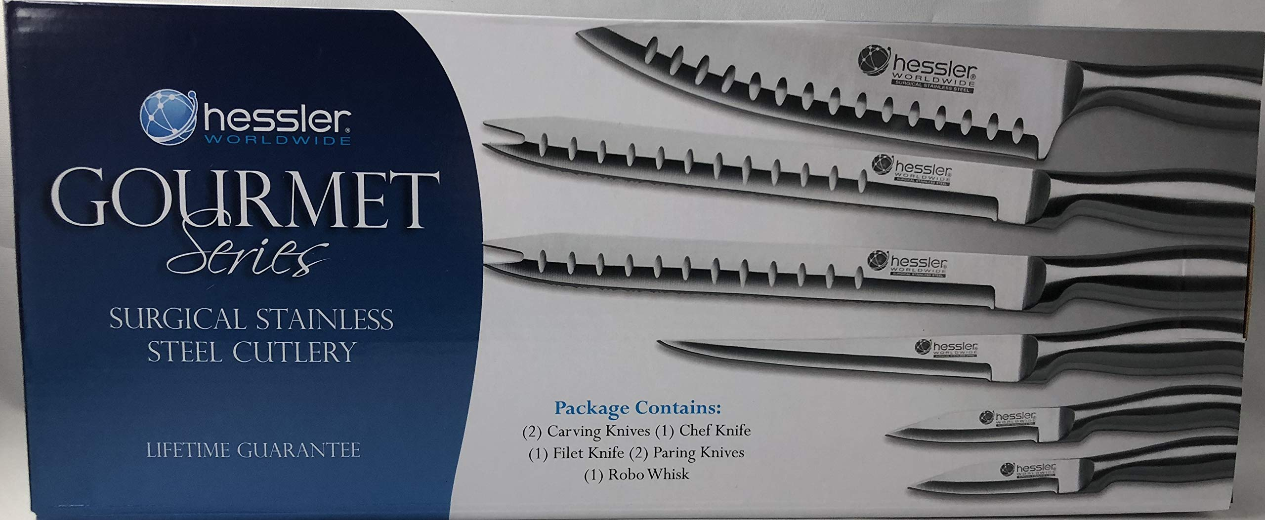 Hessler Chef Series Surgical Stainless Steel Cutlery 7 Piece Knife set