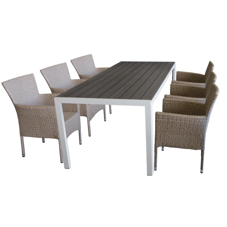 Gartenmöbel-Set Aluminium Gartentisch mit robuster ...