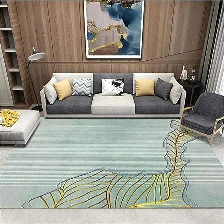 JaYea Cyan Stripe Carpet Facile à Nettoyer Tapis Chambre pas ...