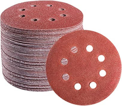 10Pcs 5-inch 8-hole hook and loop sanding disc 320 Grain-sandpaper sandpaper Random orbital sanding paper