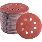 S SATC 72 PCS 5 Inch 8 Hole Hook and Loop Adhesive Sanding Discs Sandpaper for Random Orbital Sander 40 60 80 120 180…