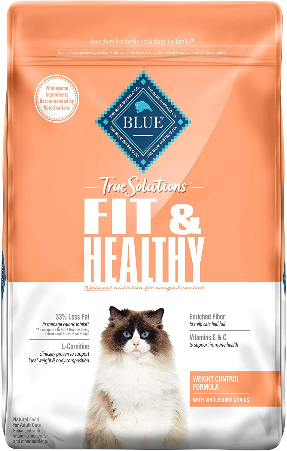 Blue Buffalo True Solutions Fit & Healthy Natural Weight Control Adult Dry Cat Food and Wet Cat Food, Chicken