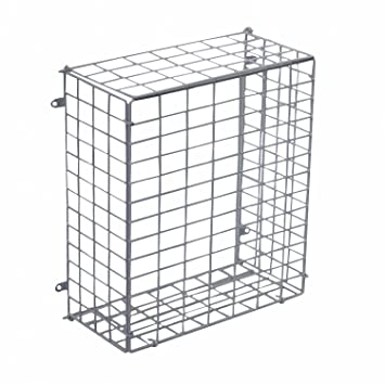 Oypla Large Letterbox Door Post Mail Catcher Basket Cage Holder Guard