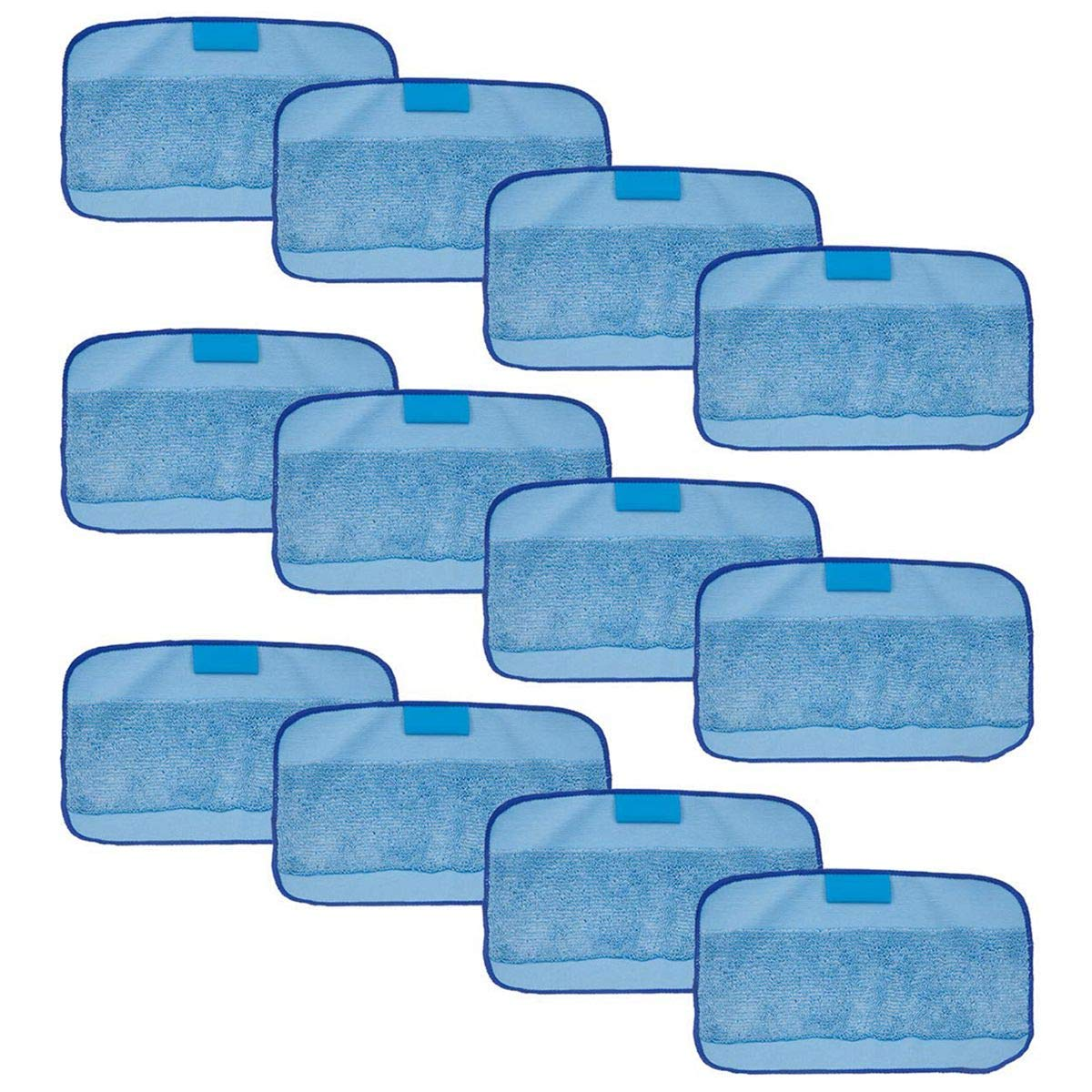 SODIAL 12-Packs Wet Cloths for Braava, Replacement Washable Pro Mopping Cloths for iRobot Braava 380t 320 Mint 4200 5200