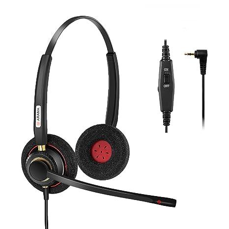 Arama A802CP Auriculares Teléfono Fijo 2,5 mm Cancelación de Ruido Micrófono, Control de