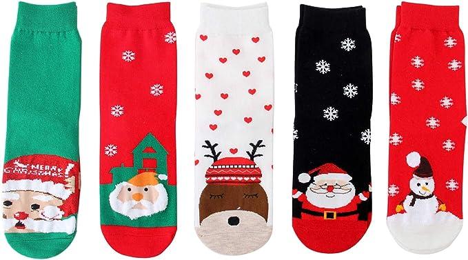 1-3 Paires Femmes Filles Noël Chaussettes Fantaisie fete cadeau de Noël Fête
