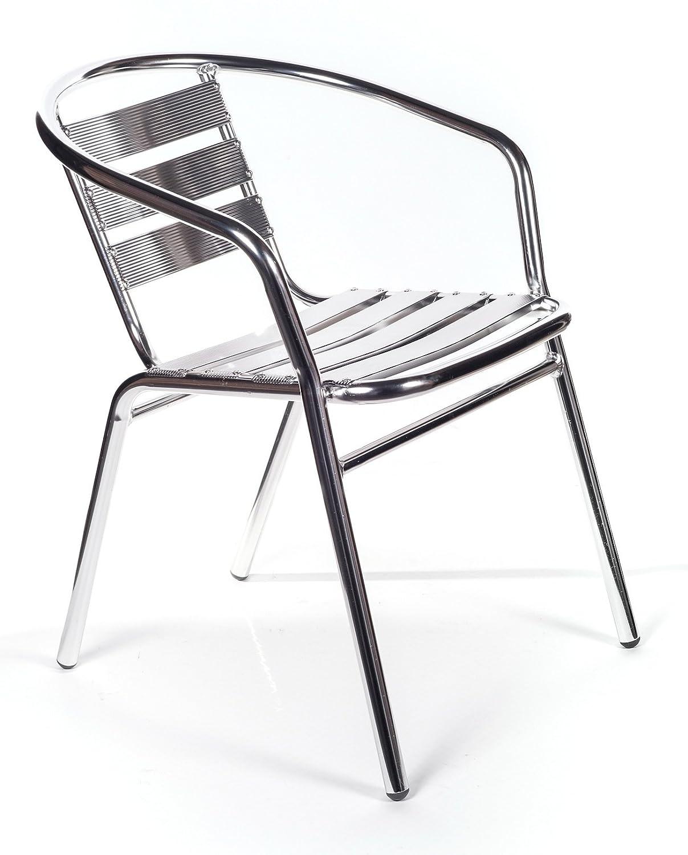 PAPILLON - Sedia da terrazzo in alluminio con braccioli impilabili ...