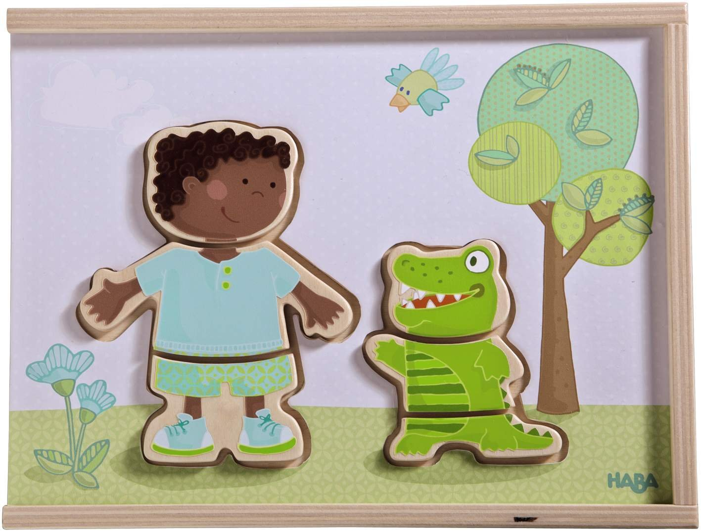 HABA Children of the World - 36 Piece Mix and Match Multi-Cultural Puzzle with Wooden Storage Box by HABA (Image #3)