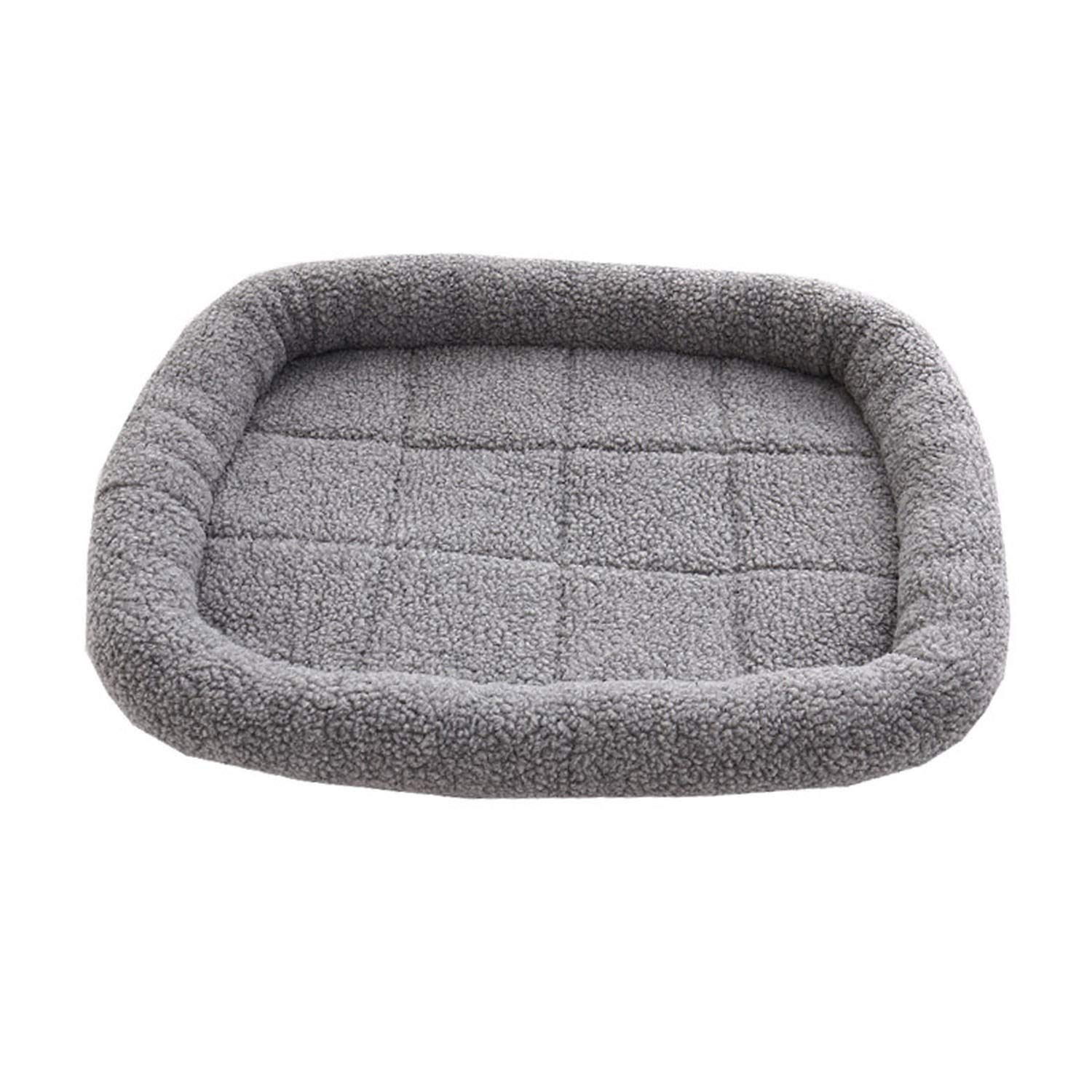Grey S 50x40cm Grey S 50x40cm Sex Appealing Warm Fleece Dog Bed Soft Sherpa Cotton Dog Mat Comfortable Solid Pet Bed for Dog and Cat Dog Kennel Drop Shipping,Grey,S 50x40cm