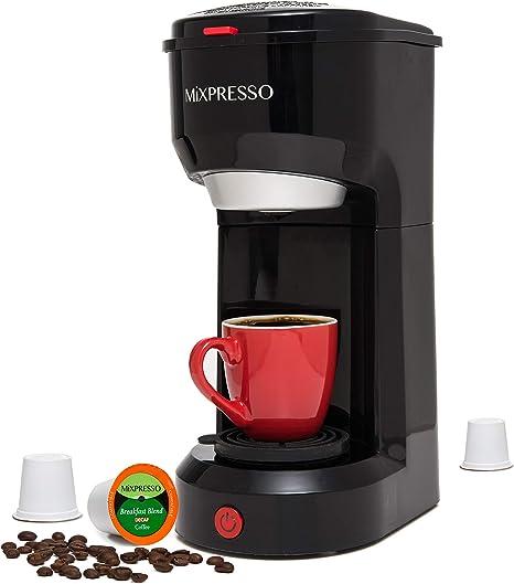Ground /& K-Cup Pods Kitchen Machine 2 In 1 Single Serve Coffee Maker Brewer