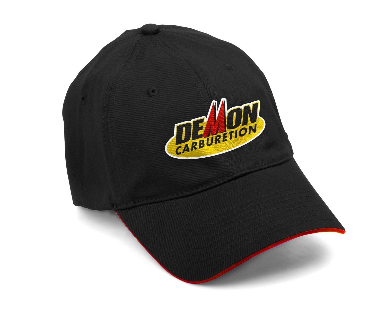 180000 Black Demon Cap Flat Embroidered Logo