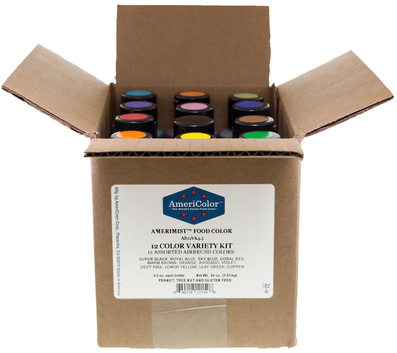AmeriColor Airbrush Variety Kit 4.5 oz Food Color