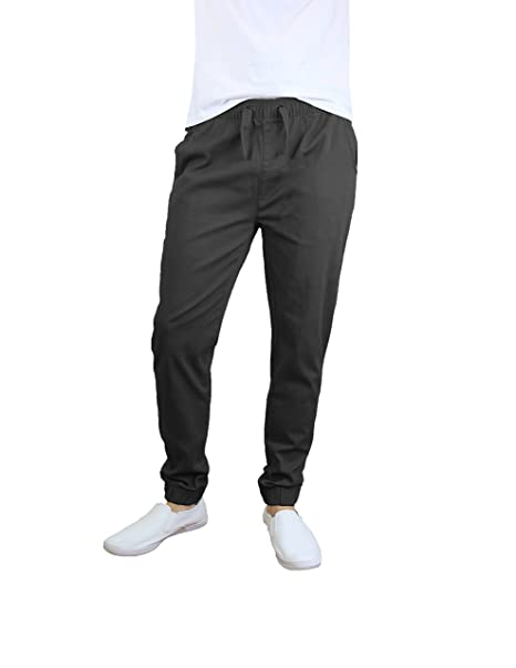 various design super quality authentic Galaxy by Harvic Men's Basic Stretch Twill Joggers