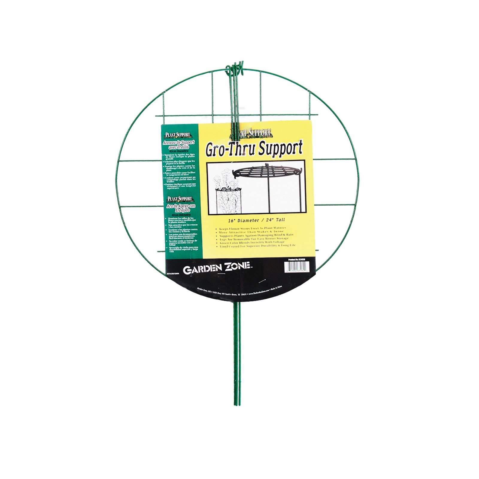 Origin Point 631630 16 Inch GroTall Plant GroThru Support, Green