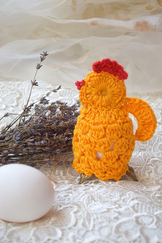 Ostern Häkeln Huhn Gemütlich Gehäkelt Hähnchen Osterei Dekoration Ei
