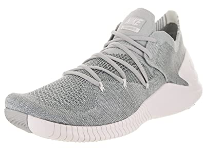 ab24e016ae4c Nike Women s Free Tr Flyknit 3 Wolf Grey White Training Shoe 10.5 Women US