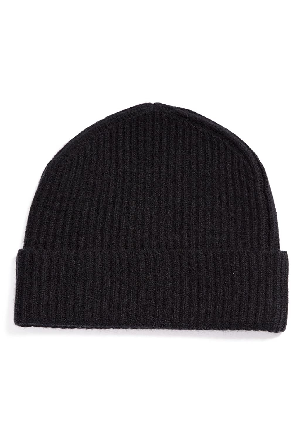 0da83681b085c Fishers Finery Women s 100% Cashmere Ribbed Hat  Cuffed  Super Soft (Black)  at Amazon Women s Clothing store