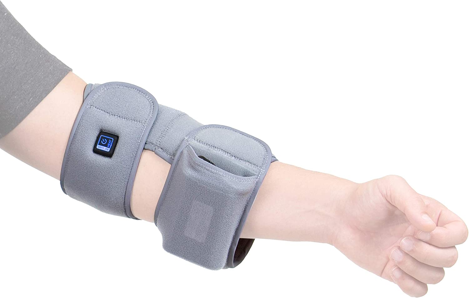Venture Heat Infrared Elbow Heating Pad for Pain Relief Recovery - Heated Wrap Support Brace for Tendonitis, Arthritis, Join Pain Injury, Tennis Elbow