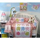 SOHO Elephant Flutter Crib Nursery Bedding Set 14 pcs