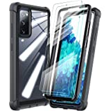 HATOSHI Samsung Galaxy S20 FE 5G Case + 2 Pack Tempered Glass Screen Protector, [5X Military-Standard Shockproof Protection],