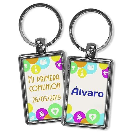 Llavero comunión Personalizado con Nombre y Texto | Regalo ...