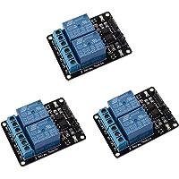 ARCELI 3 sztuki 2-kanałowy moduł przekaźnika DC 5 V do Arduino UNO R3 DSP ARM PIC AVR STM32 Raspberry Pi z transoptorem…