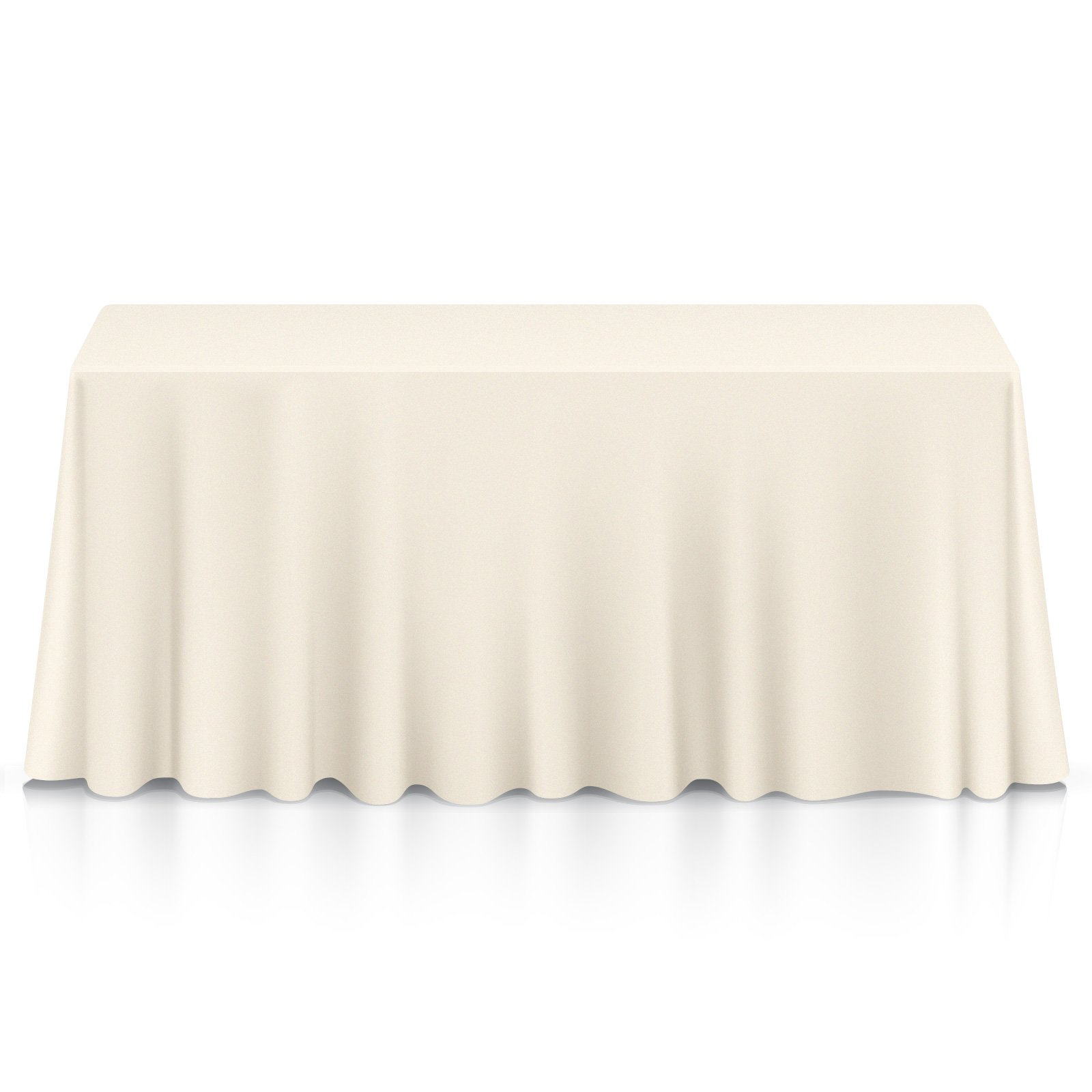 Lann's Linens - 20 Pack of 90'' x 156'' Rectangular Ivory Polyester Tablecloth Covers for Weddings, Banquets, or Restaurants