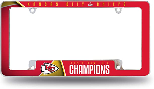 Nfl Rico Industries Kennzeichenrahmen Chrom Kansas City Chiefs Auto