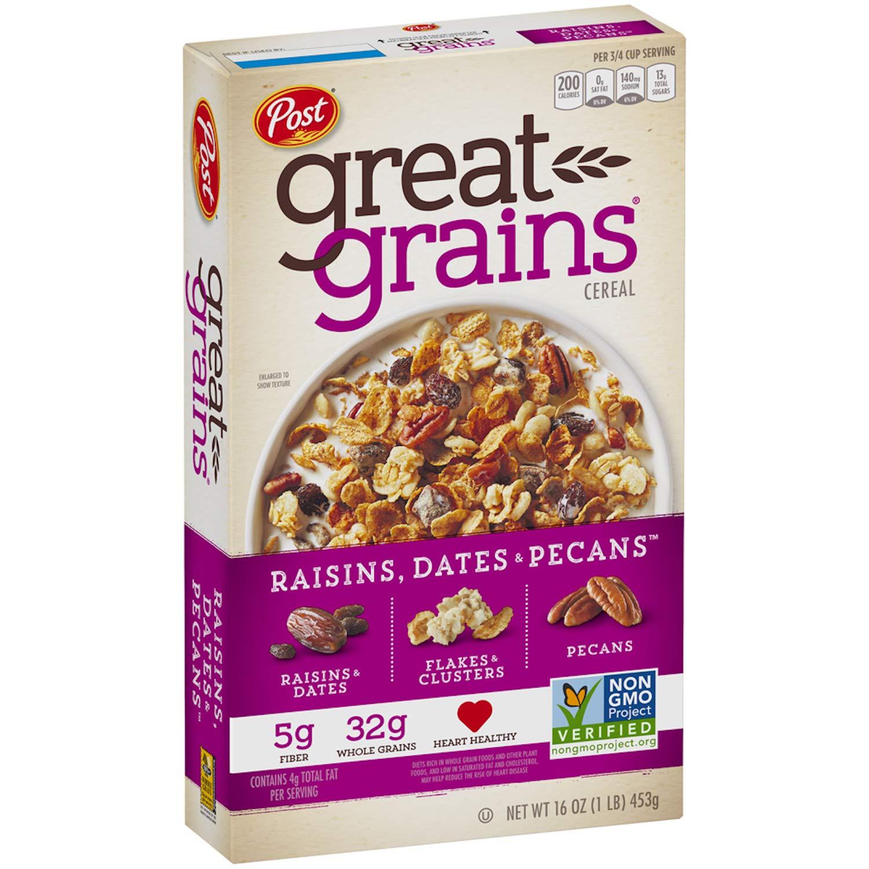Post Great Grains Raisins, Dates & Pecans Whole Grain