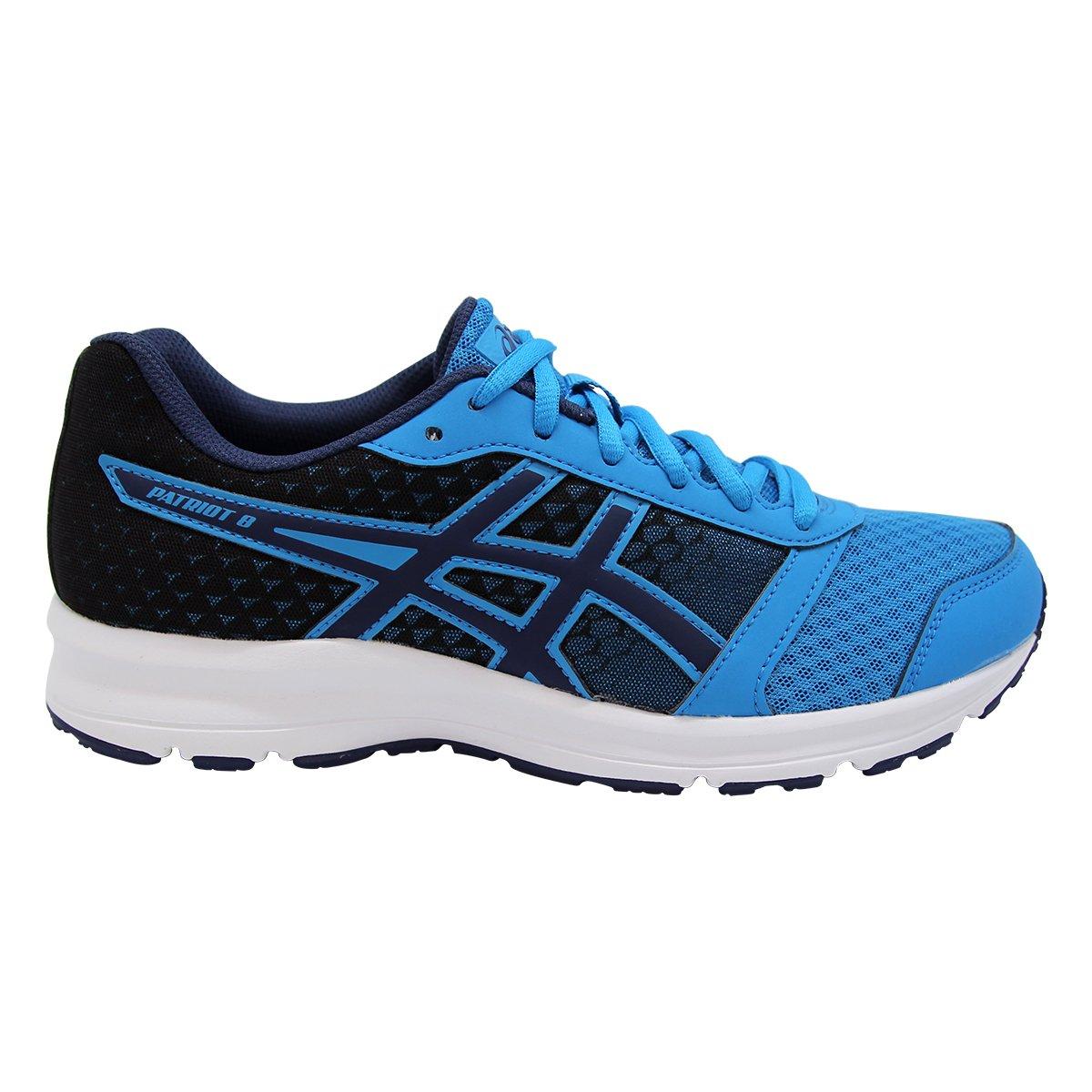 Asics Patriot 8, Zapatillas de Running Hombre 42 EU|Negros-azul