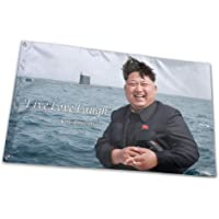 RONGANDHE Kim Jong Un Flag Banner 3x5 Feet Man Cave Party