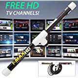 Magic Stick TV 2 - Digital TV Antenna Reception Signal Booster with 16ft Cable, Easy to Install, Up to 80 Mile Range