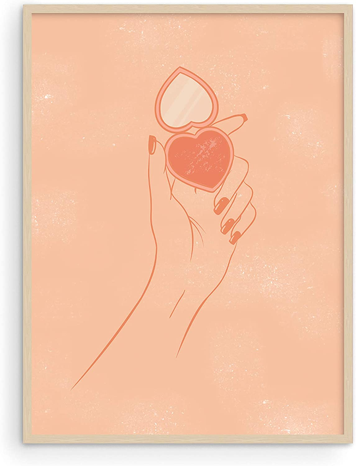 Haus and Hues Makeup Wall Art and Peach Wall Decor - Makeup Pictures Wall Decor and Aesthetic Posters for Teen Girls   Fashionista Wall Decor and Makeup Posters UNFRAMED 12