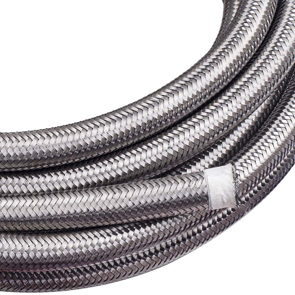 maXpeedingrods 10AN 20FT Stainless Steel PTFE/Teflon Fuel Line AN10 Fitting Swivel Hose Kit AN10 20Feet - Black by maXpeedingrods (Image #5)