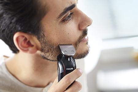 Philips MULTIGROOM Series 1000 QG415/13 Recargable Negro, Rojo cortadora de pelo y maquinilla - Afeitadora (Negro, Rojo, 1,8 cm, 1 mm, 50 min, AC/Batería, 1 h): Amazon.es: Salud y cuidado personal