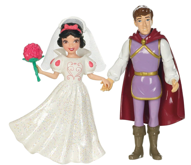Amazon.com: Mattel Disney Princess Fairytale Wedding Snow White and ...