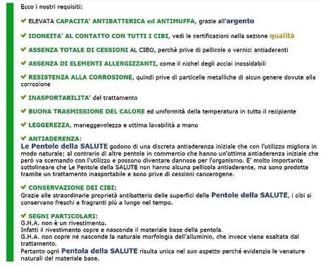 Casseruola 2 maniglieLe Pentole della SALUTE by GHA /Ø 18 x h 9cm