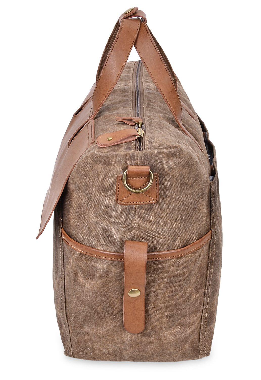 ALTOSY Canvas Travel Duffle Bag Weekend Duffel Overnight Tote 5513, Amy Green