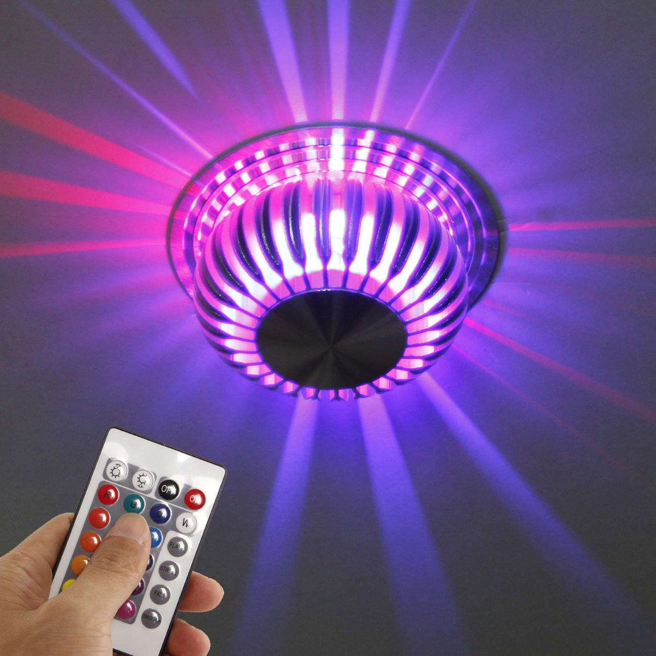INHDBOX Deckenlampe LED Farbwechsellampe klein RGB (multicolor) mit ...