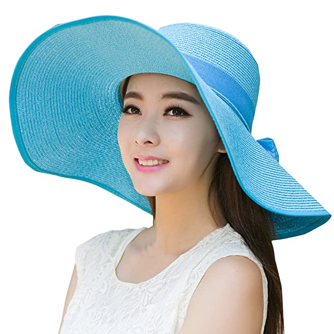 3771574d87f Jemis Women s X Large Floppy Brim Hat (Azure-5) at Amazon Women s ...