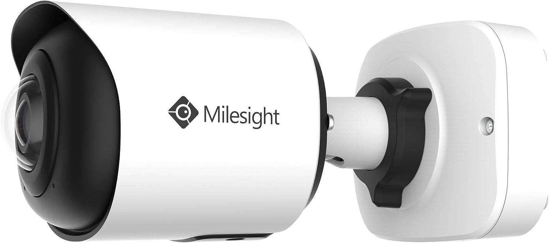 180 grados, con contador de personas, cruce de l/ínea y otras funciones inteligentes C/ámara de vigilancia profesional de 4K Milesight MS-C8165-PB