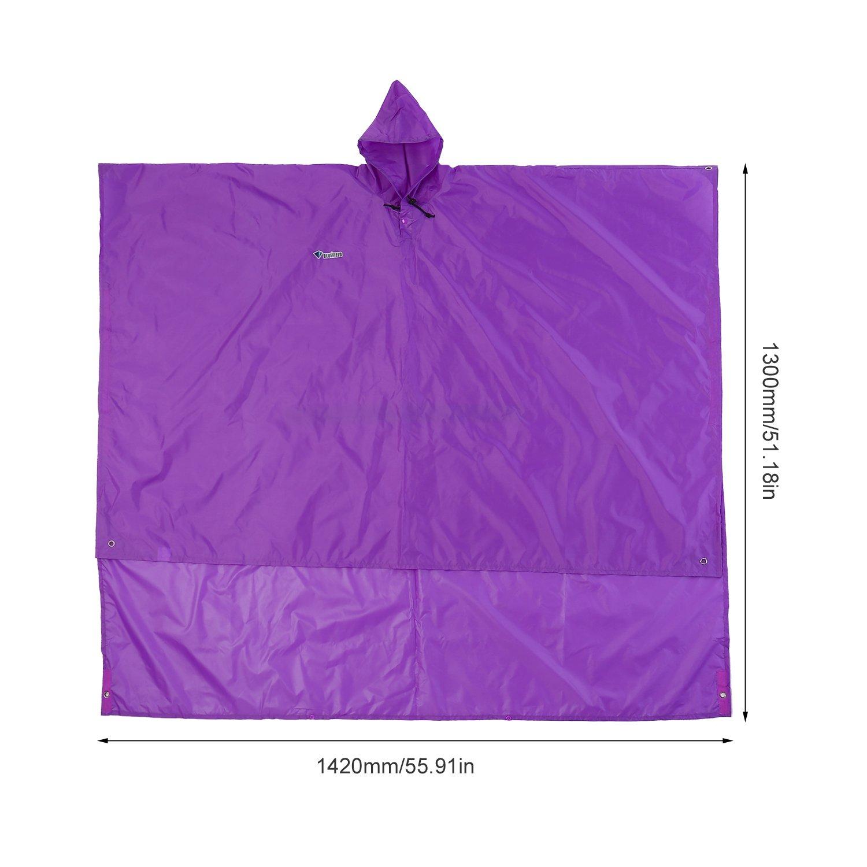 Poncho de Lluvia Multi-Funcional para Utilizar como un Toldo Tela y Estera de Picnic Homgrace Senderismo y Acampada Chubasquero