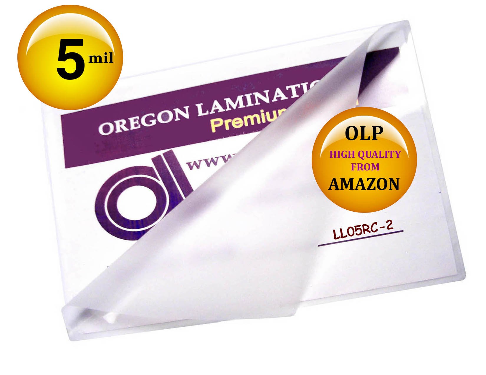 Qty 200 Legal Laminating Pouches 5 Mil 9 x 14-1/2 by Oregon Lamination Premium
