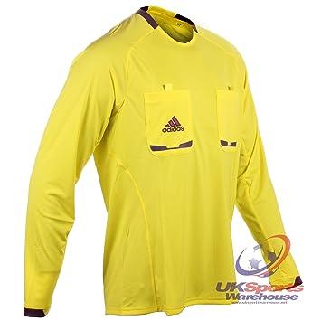 adidas Hombre Manga Larga Climacool Formotion árbitro Camisetas Jersey Negro / Gris / Amarillo / Azul